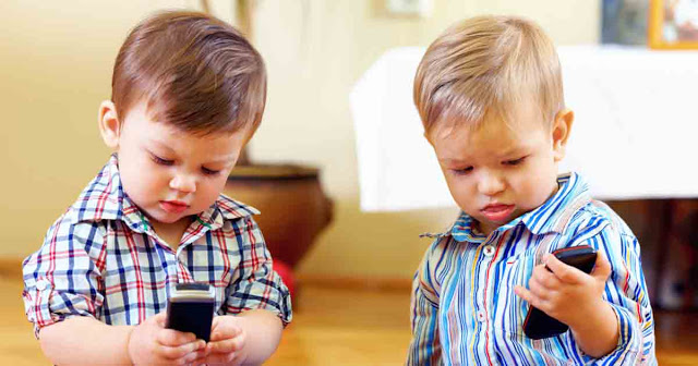 Kids with cell phone
